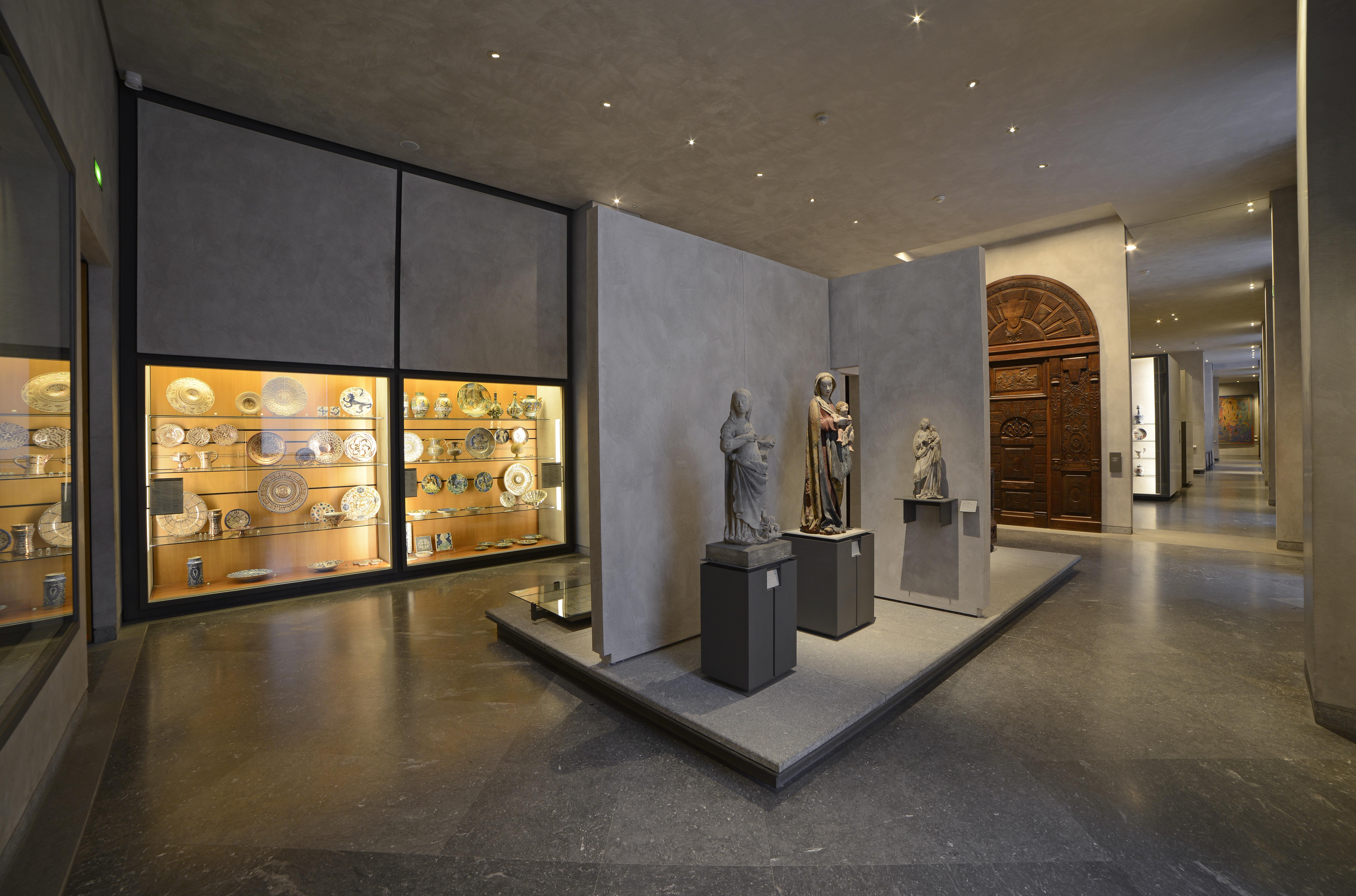Vue des collections d'objets d'art