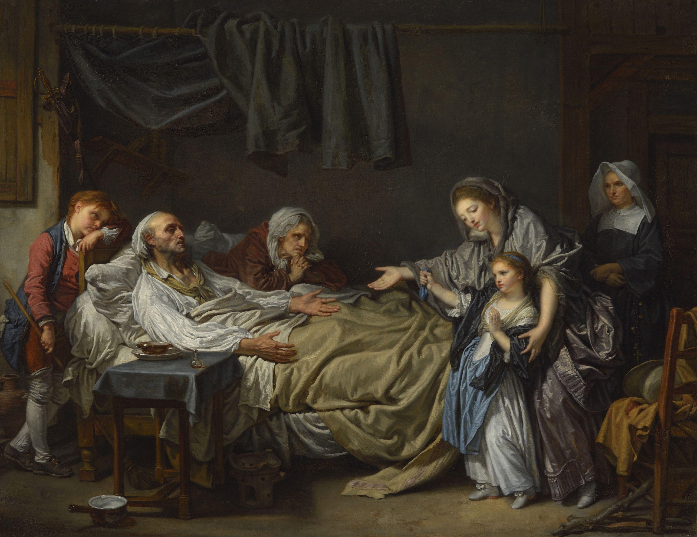 Jean-Baptiste Greuze, La Dame de charité, vers 1775.