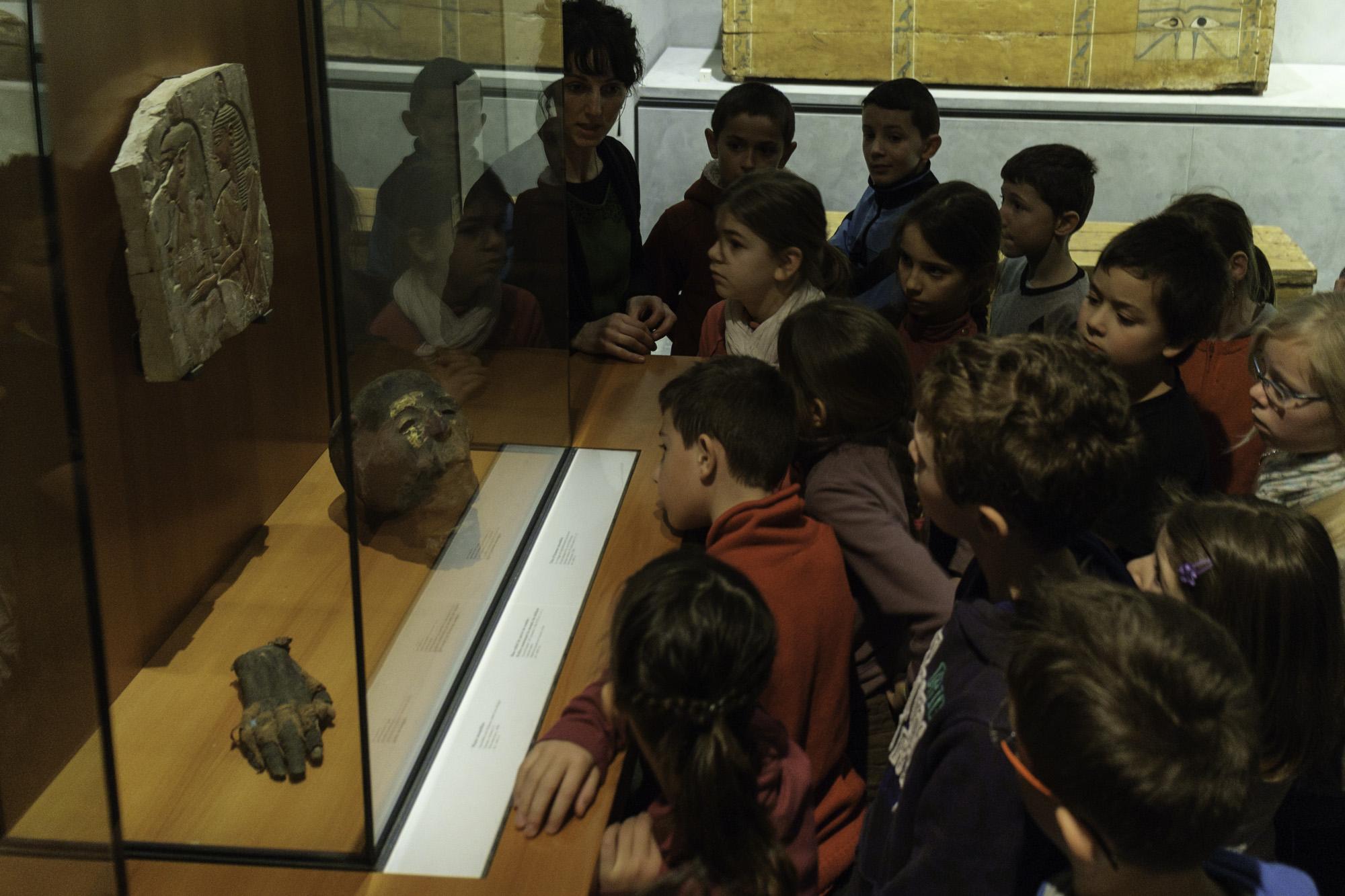 enfants visites Egypte antique
