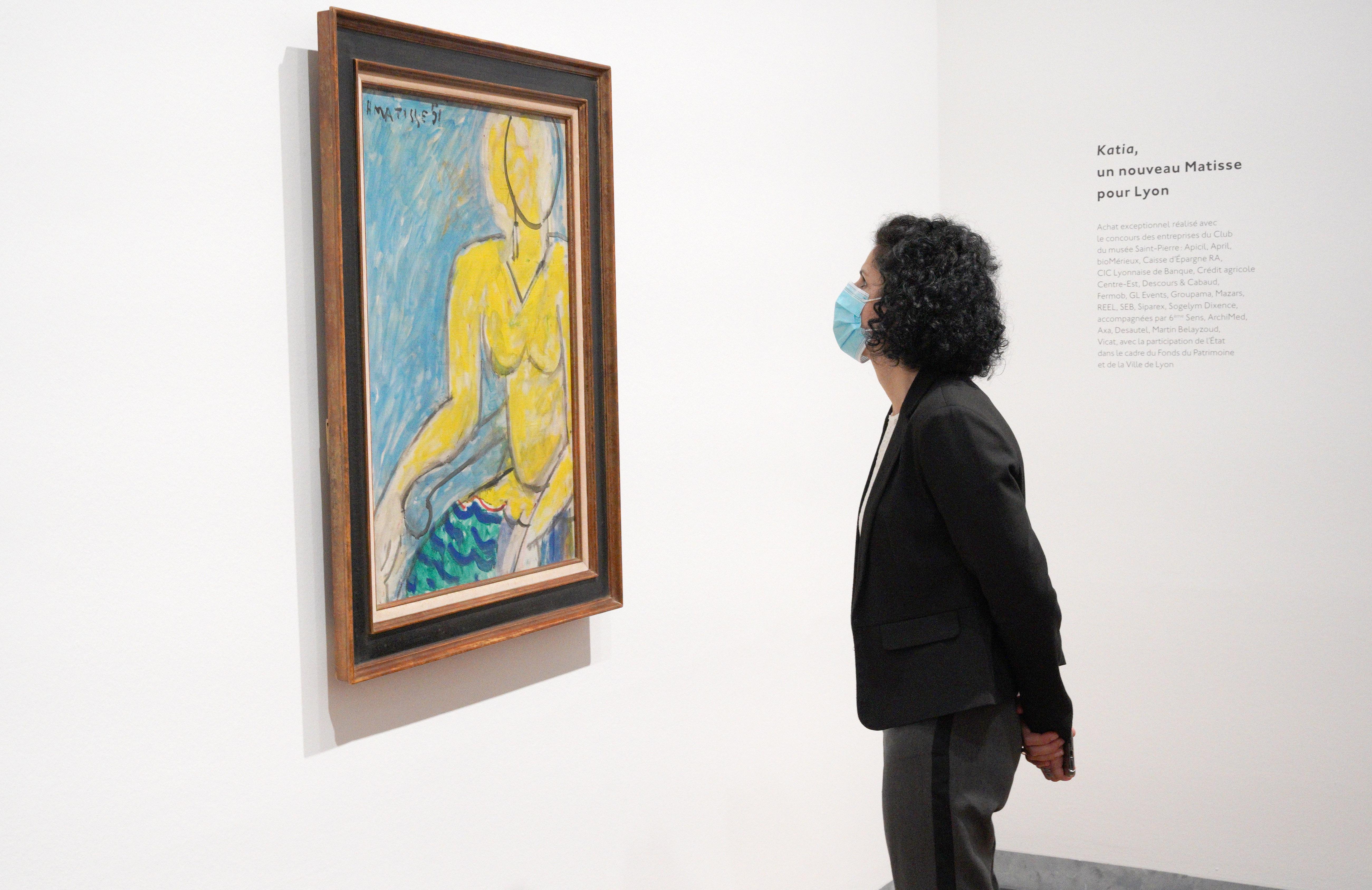 Katia à la chemise jaune, Henri Matisse, 1951© Succession H. Matisse, 2021. Image © Lyon MBA - Photo Stéphane Degroisse