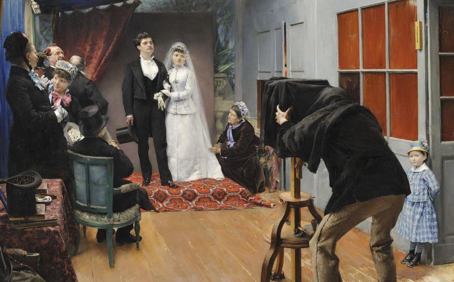 Pascal Dagnan-Bouveret, La Noce chez le photographe, 1879.