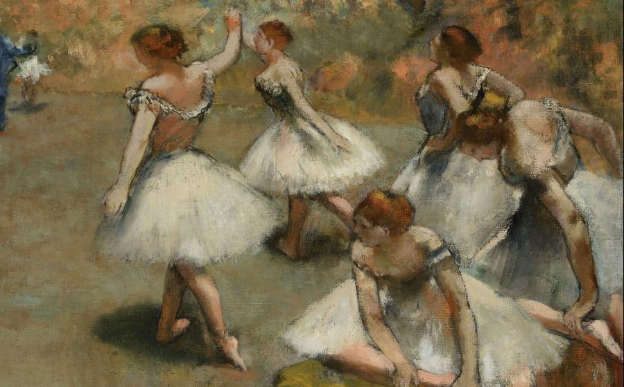 エドガー・ドガ、ダンサーズ・オン・ザ・ステージ、1889年。