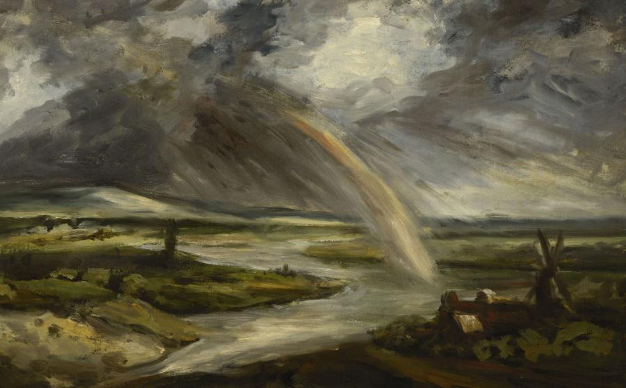 Georges Michel, L'Orage sur la vallée de la Seine, vers 1820-1830.