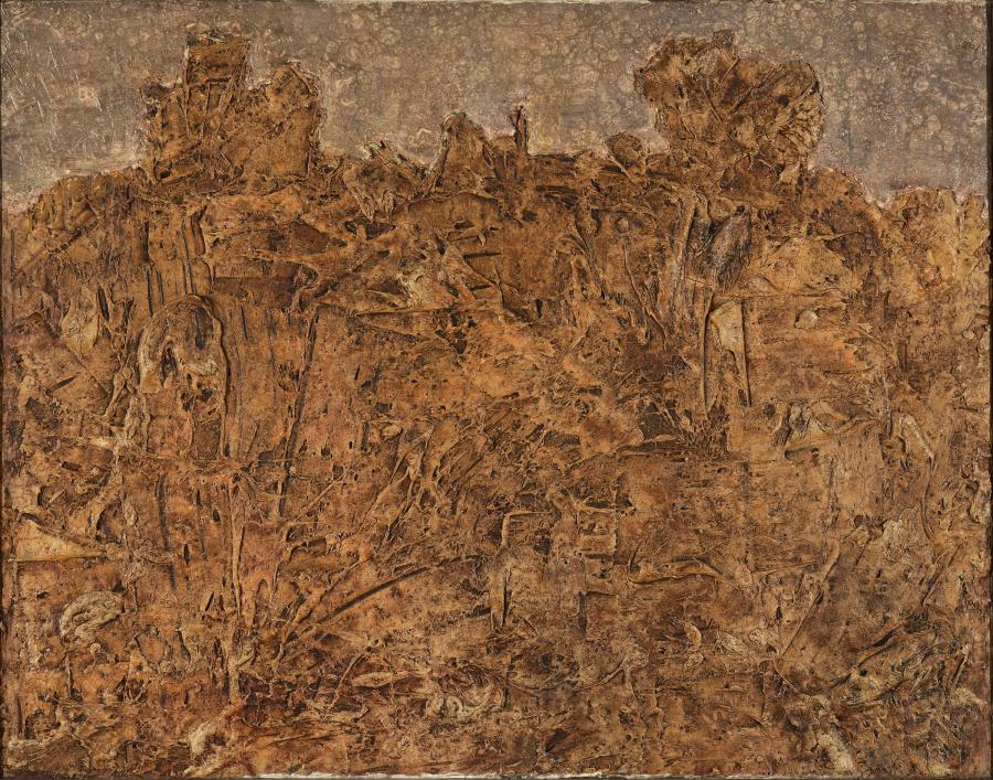 Jean Dubuffet, Paysage blond, 1952.